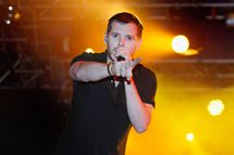 READING, ENGLAND - AUGUST 28: Mike Skinner of The Streets performs live on the NME Radio 1 Stage during day three of Reading Festival 2011 on August 28, 2011 in Reading, England.  (Photo by Simone Joyner/Getty Images)