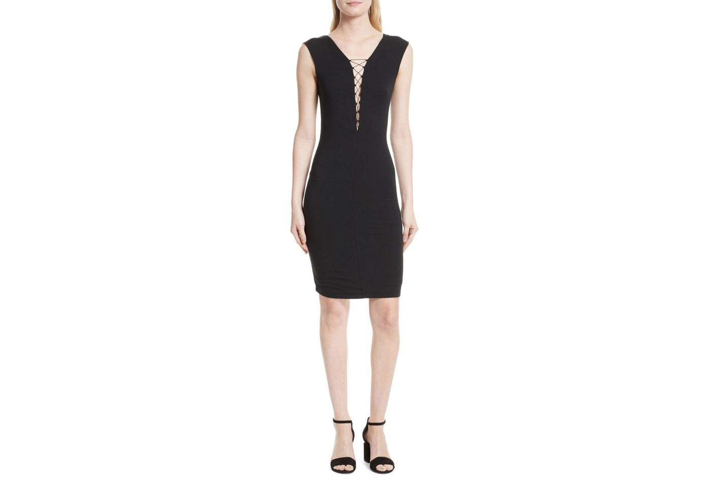 T by Alexander Wang Lace-Up Dress