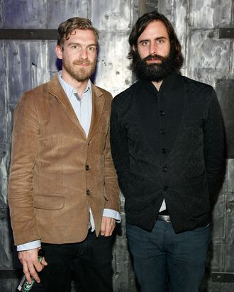 NEW YORK, NY - APRIL 12: Pontus Winnberg and Andrew Wyatt of Miike Snow attend the 2011 Ballroom Marfa benefit at Center 548 on April 12, 2011 in New York City. (Photo by Andy Kropa/Getty Images) *** Local Caption *** Pontus Winnberg;Andrew Wyatt
