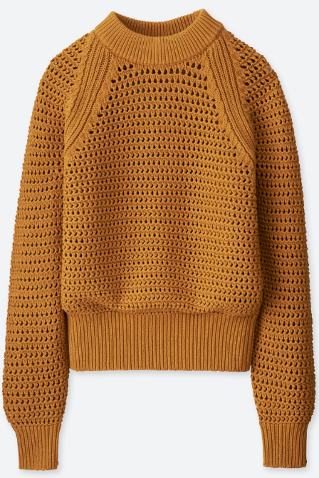 Uniqlo Women's U Mesh Oversized Sweater