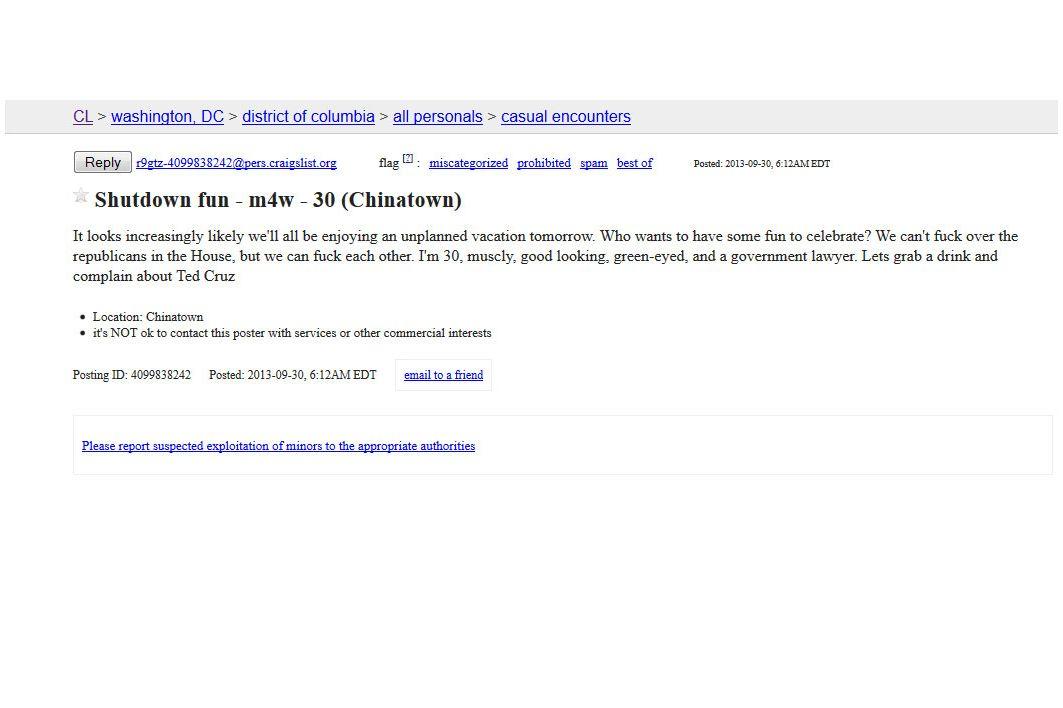 Washington Dc Craigslist : Craigslist free classified ad ...