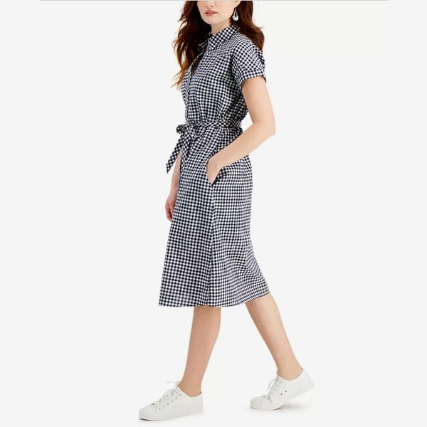 Style & Co Cotton Gingham Shirtdress