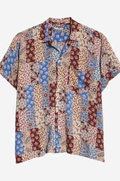 Bode Eastern Paisley Patchwork Shirt