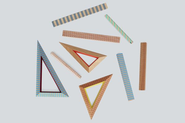 HAY Design Wooden Ruler Triangle Set