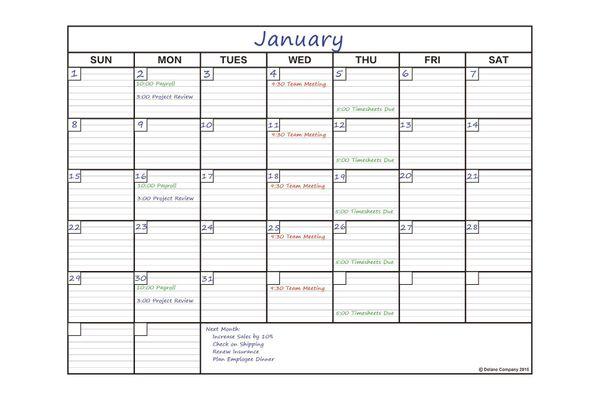 Delane Large Dry Erase Wall Calendar Planner