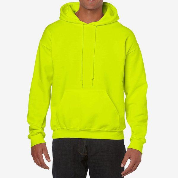 Gildan Heavy Blend Fleece Hooded Sweatshirt, Safety Green