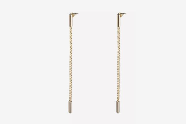 Eddie Borgo Idle Line Chain Drop Earrings