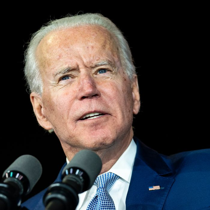 Former Vice President and Democratic presidential candidate Joe Biden speaks during a campaign rally in Los Angeles.