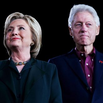 Democratic presidential candidate former Secretary of State Hillary Clinton and her husband, former U.S. president Bill Clinton