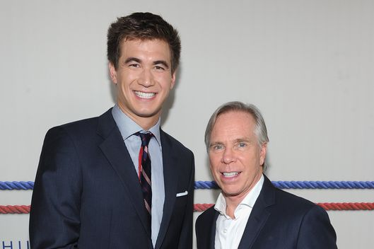 Olympic swimmer Nathan Adrian and designer Tommy Hilfiger attend Tommy Hilfiger Presents Spring 2013 Men's Collection at The Cabanas at The Maritime Hotel on September 7, 2012 in New York City.
