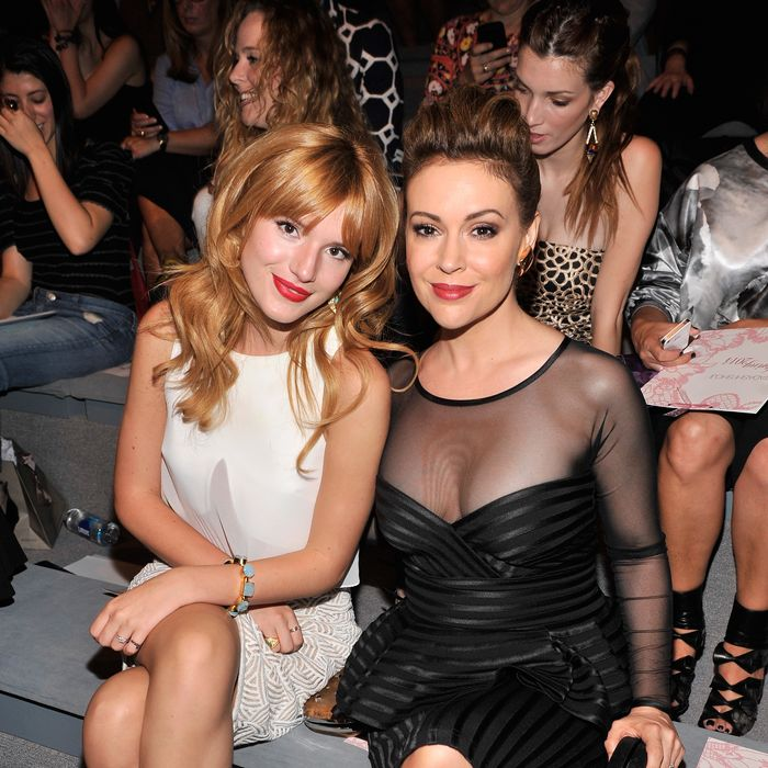 Bella Thorne and Alyssa Milano.