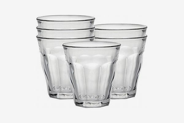 Duralex Made in France Picardie Clear Tumbler, 5.75 Ounces, Set of 6