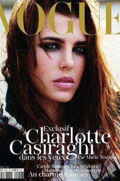 Charlotte Casiraghi for French <em>Vogue</em>.