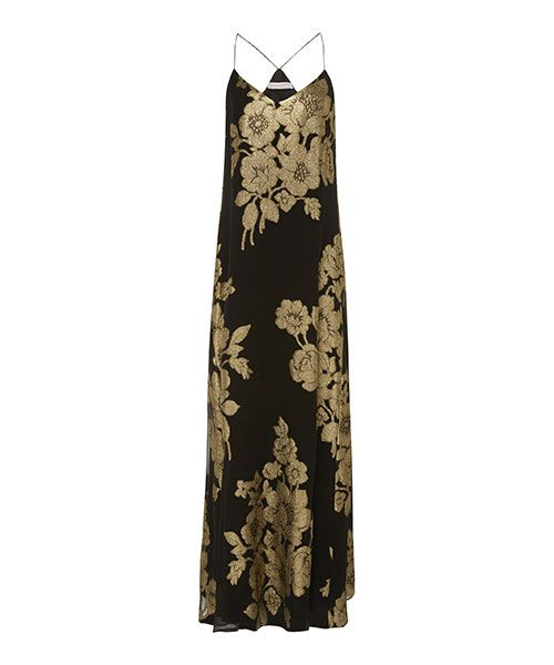 Marie France Van Damme Silk And Lurex Maxi Dress