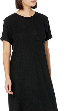 Lucky Brand Women's Short Sleeve Crew Neck Cloud Jersey Tee Dress