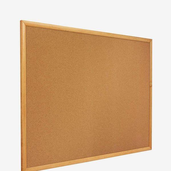 Quartet Cork Board, Bulletin Board, 8' x 4' Corkboard, Oak Finish Frame