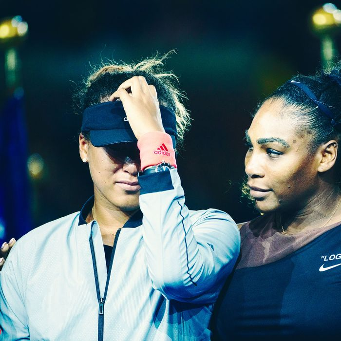 Naomi Osaka and Serena Williams at the U.S. Open.