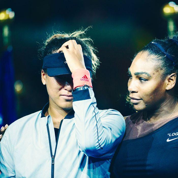 Naomi Osaka and Serena Williams at the U.S. Open.
