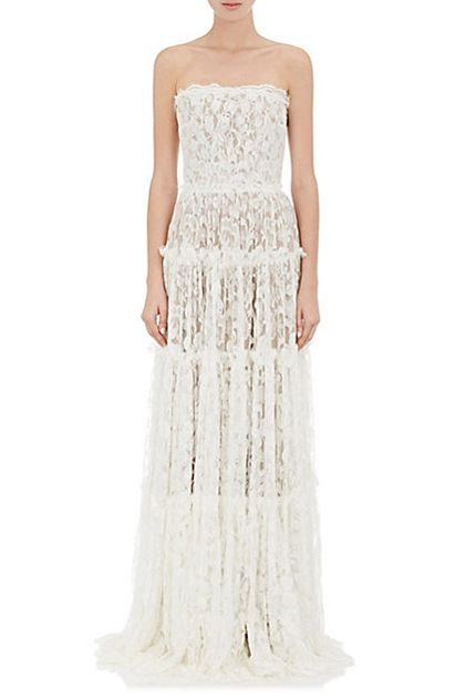 Lanvin Lace Strapless Gown