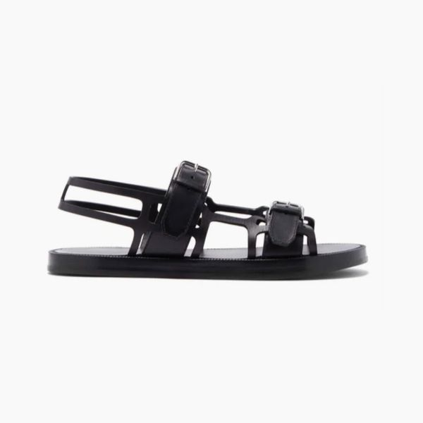 Burberry Caged Leather Sandals