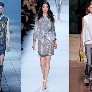 Looks from Lanvin, Givenchy, and Celine.