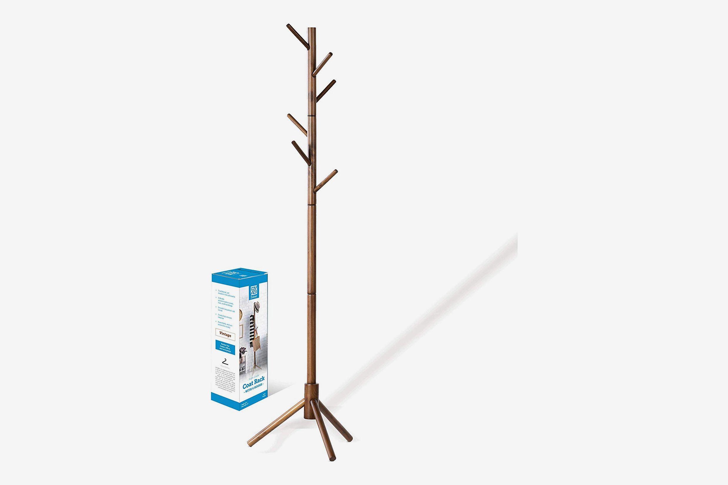 high grade wooden tree coat rack stand