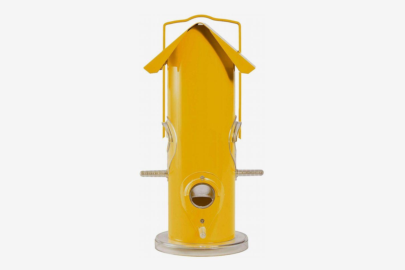 Perky-Pet Yellow Metal Tube Wild Bird Feeder