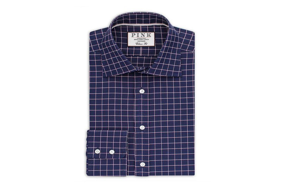 Thomas Pink Hadley Check Classic Fit Dress Shirt