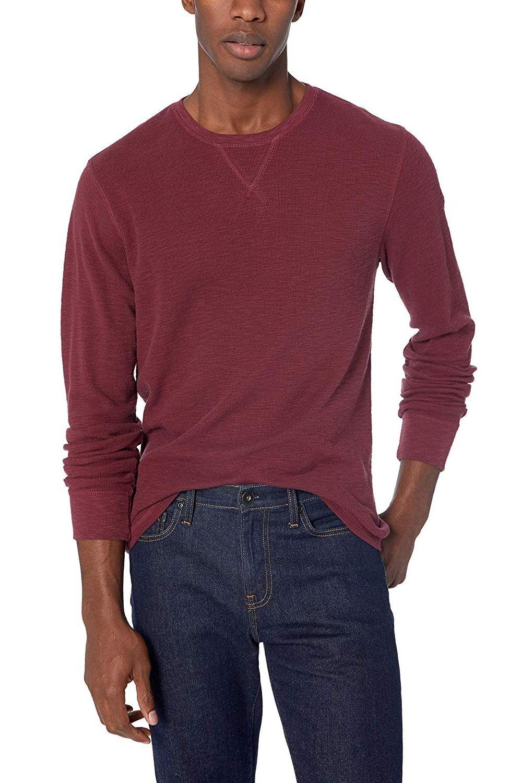 86e01806d1cb Amazon Brand Goodthreads Men's Long-Sleeve Slub Thermal Crewneck