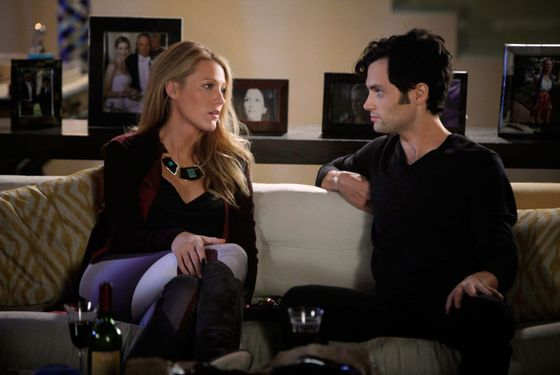 "GOSSIP GIRL-- ""Where The Vile Things Are""  Pictured (L-R): -- Blake Lively as Serena Van Der Woodsen and  Penn Badgley as Dan Humphrey"