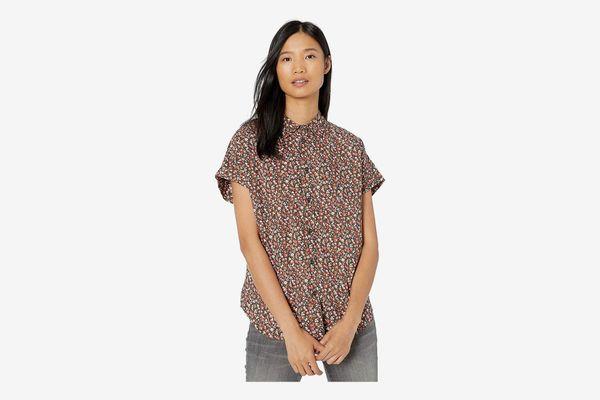 Goodthreads Women's Lightweight Cotton Short-Sleeve Shirt