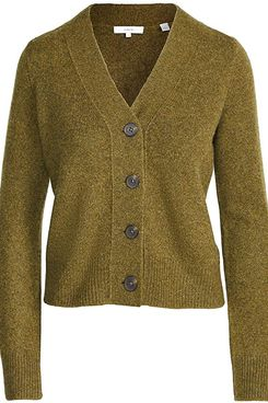 Vince Women's Cashmere Shrunken Button Cardigan
