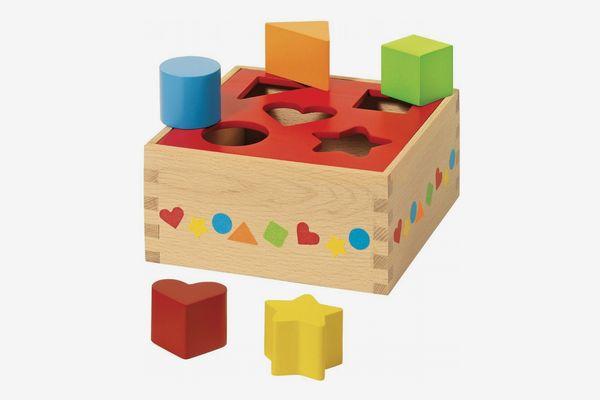Goki Shape Sorter Wooden Box
