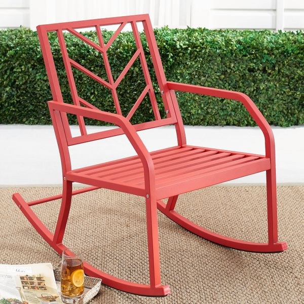 Mainstays Evry Bell Outdoor Metal Rocking Chair