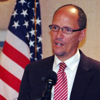 Assistant U.S. Attorney General Tom Perez announces the formation of a new Justice Department civil rights unit to be based in Birmingham, Ala., on Tuesday, Aug. 21, 2012. Officials said the would look at issues related to immigrants plus a variety of other areas including fair housing laws, police brutality claims, compliance with federal disability laws and minority protection. (AP Photo/Jay Reeves)