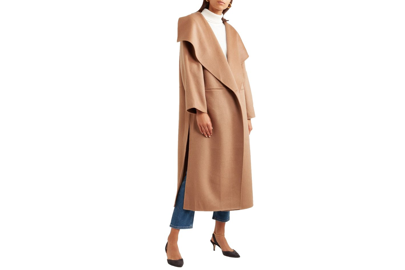 Totême Annecy Oversized Wool and Cashmere-blend Coat