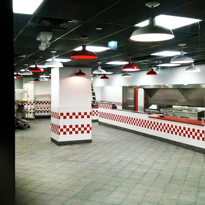 The new Five Guys in Metrotech.