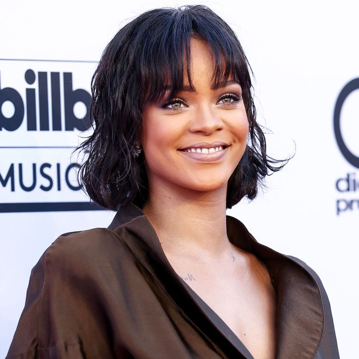 Rihanna, thinking about a nice bowl of gnocchi she's going to eat later