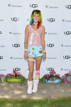 Model Chloe Norgaard attends UGG Australia's Style Haven house party, hosted by UGG Australia, to showcase the Spring Summer 2014 Collection, in celebration of the Coachella Valley Music & Arts Festival 2014 at Villa Sereno on April 12, 2014 in Indio, United States.