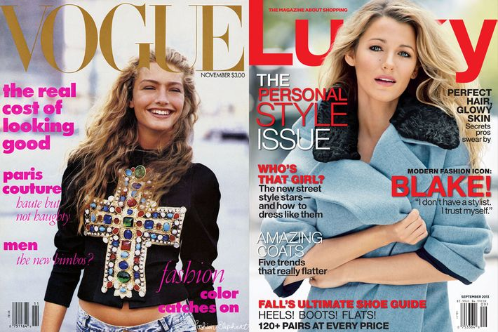 Eva Chen's first Lucky cover; Anna Wintour's first Vogue.