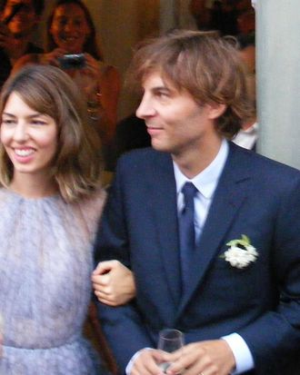 Sofia Coppola at her wedding.