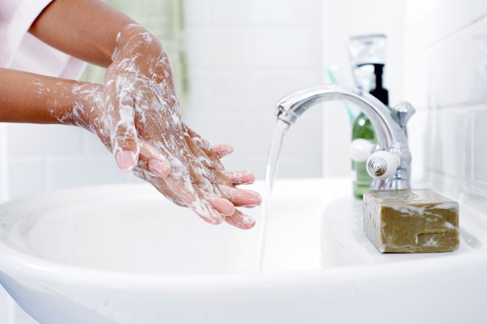Washing your hands with regular soap works just fine.