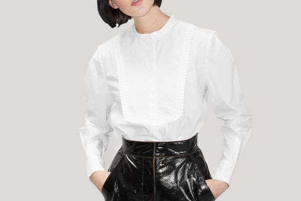 & Other Stories Ruffle Bib Shirt