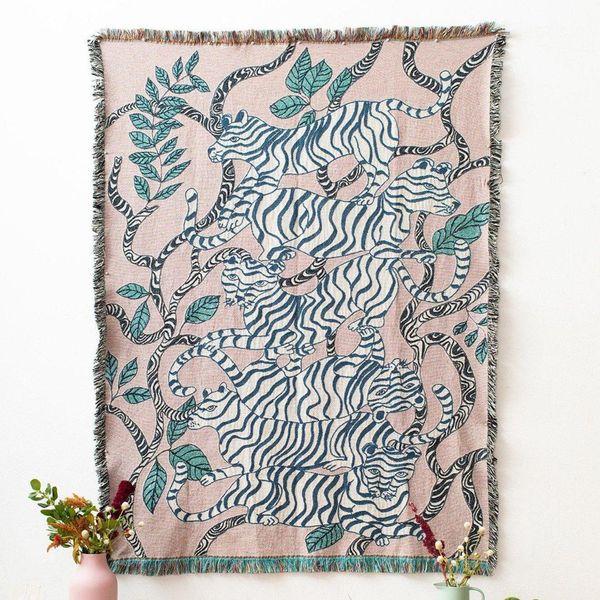 Lavender Tigers Blanket