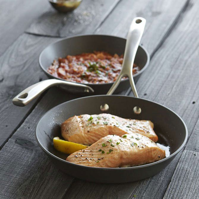 Sur La Table Dishwasher-Safe Hard Anodized Nonstick Skillets