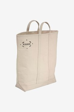 Steele Natural Canvas Tote Bag Tall