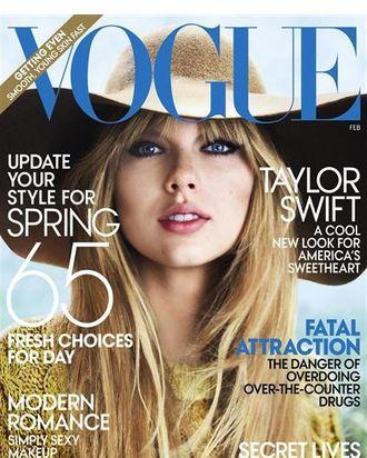Taylor's February <em>Vogue</em> cover.