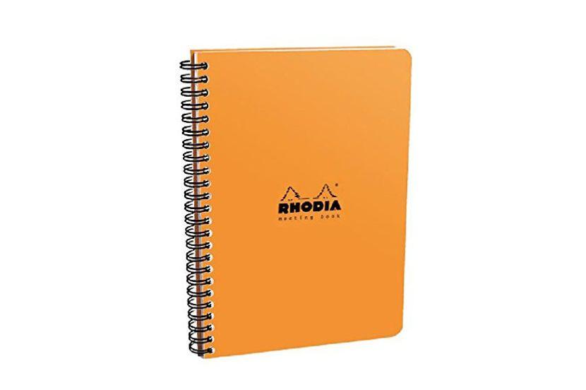 Rhodia Orange Meeting Notebook 16 x 21 cm