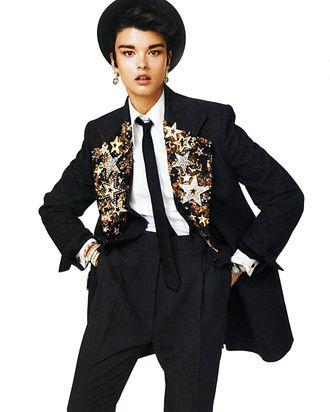 Crystal Renn for <em>Vogue</em> Japan.