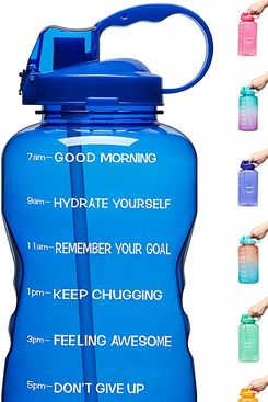Venture Pal Motivational BPA-Free Leakproof Water Bottle With Straw